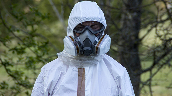 Asbestos requires the use of protective equipment