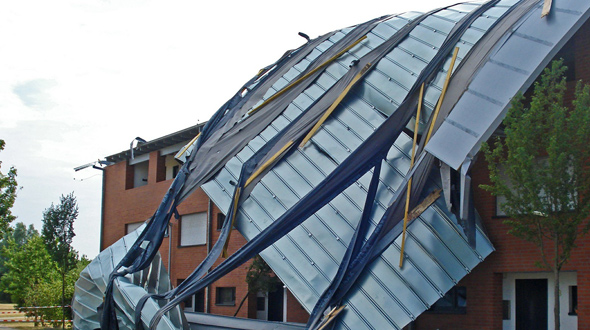 Commercial roof damage assessment repair Atlanta Ga