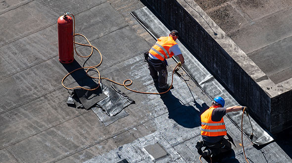 Efficient BUR roofing system installation