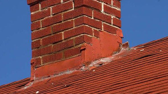 Chimney leaks happen when the flashing deteriorates cracks or peels