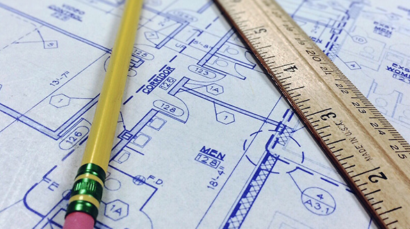 Commercial roof load capacity found on original building blueprints