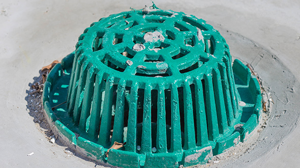 Commercial roofing internal  drainage systems metal drain strainer