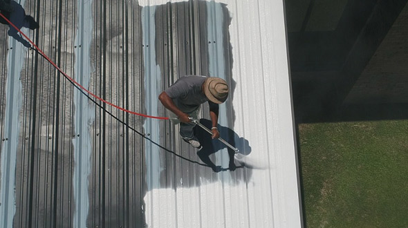 Installation of Commercial roofing system
