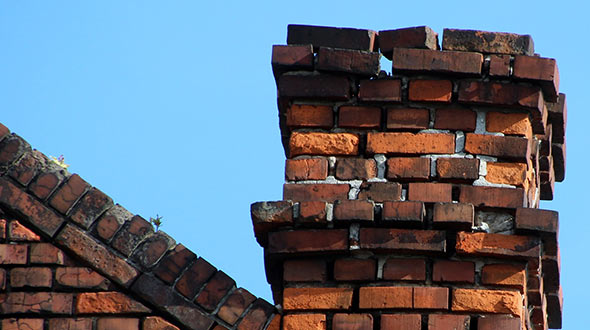 Chimney leaks are common when the chimney is missing its crown and cap
