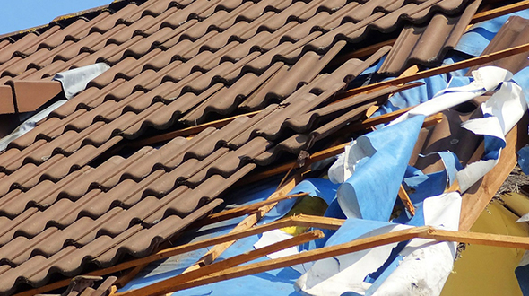 Combined with hail damage a roofing system may fail in other weather events