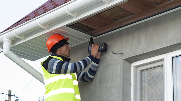 Soffit installation and repair work