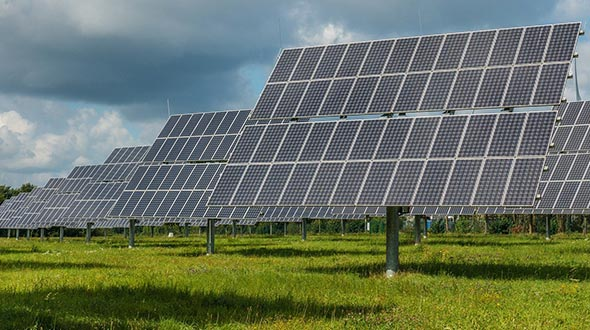 Solar panel gardens expand energy production and avoid exceeding roof load capacity