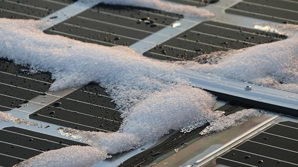 Solar panels are vulnerable to poor weather conditions
